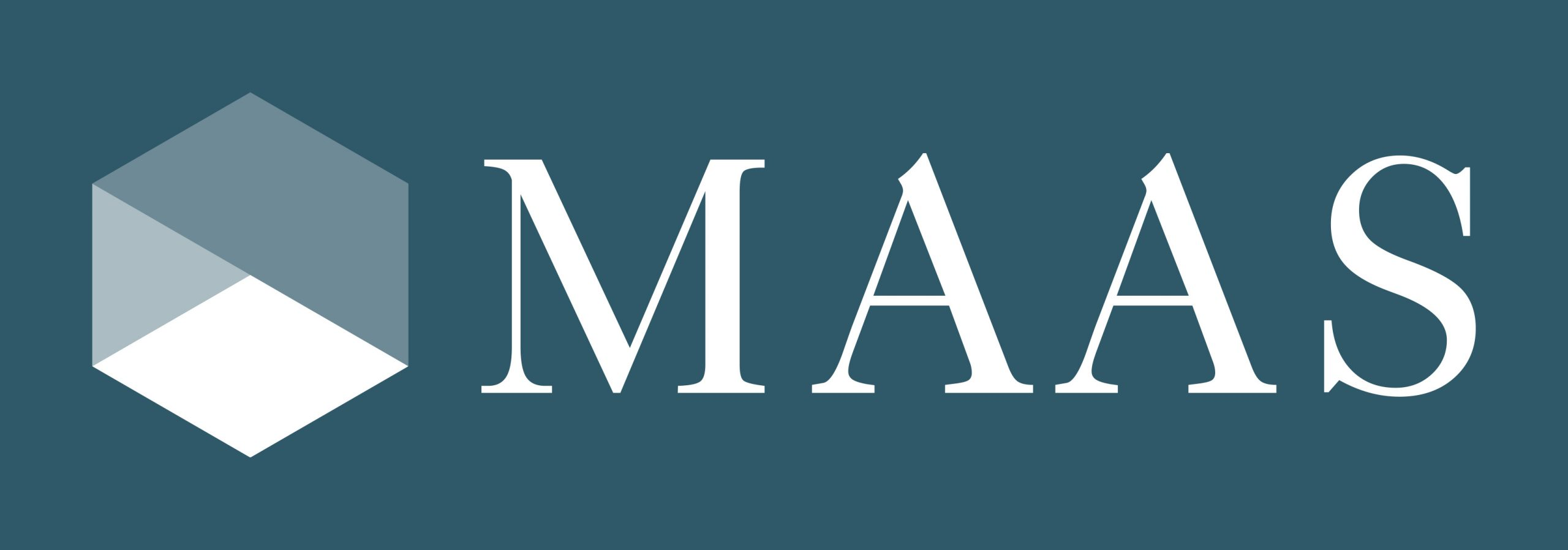 Logo of Maas on a green background