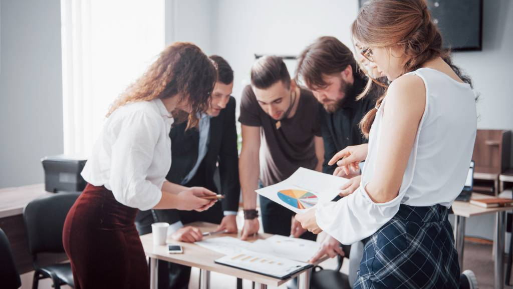 A group in a meeting